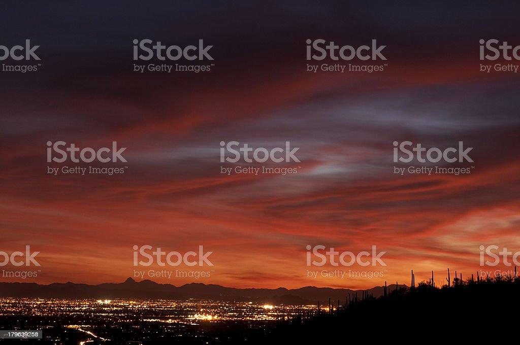 Tucson City Lights stock photo
