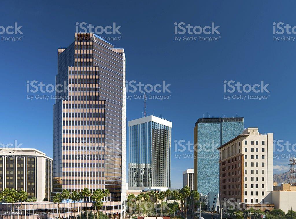 Tucson Downtown buildings stock photo