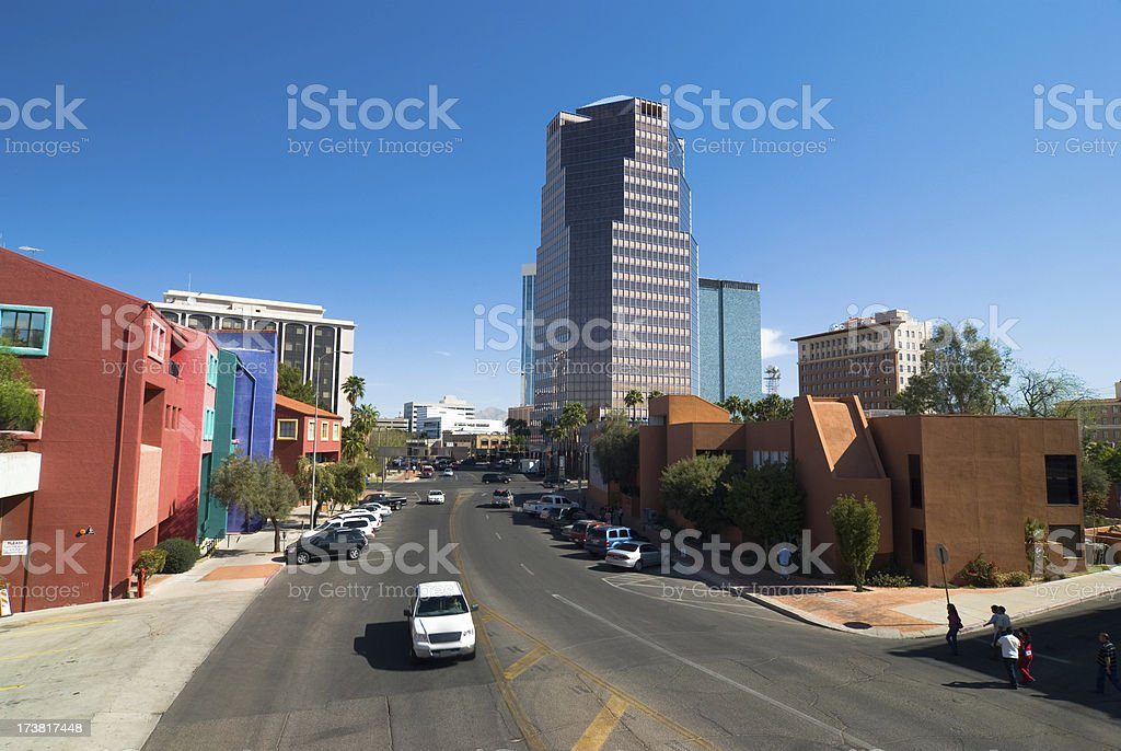 Tucson Downtown scene royalty-free stock photo