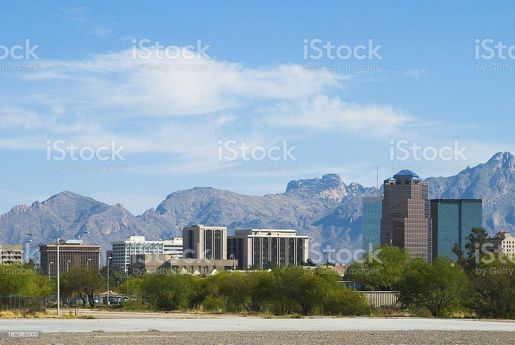 Tucson downtown skyline stock photo
