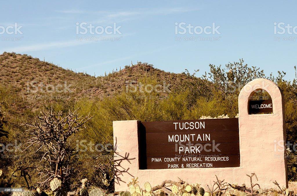 Tucson Mountain Park in Arizona stock photo