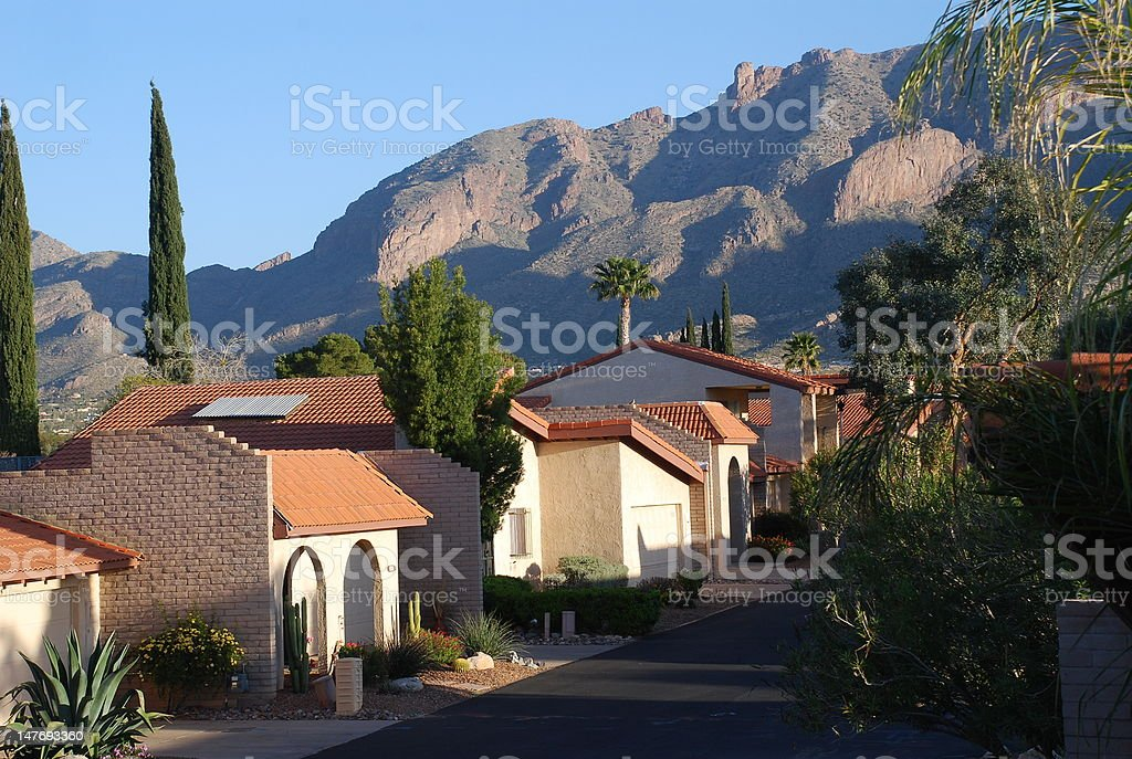 Tucson Mountains stock photo