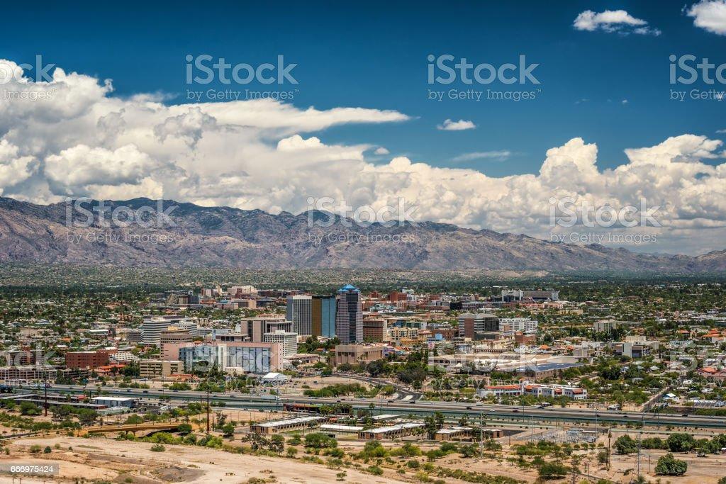Tucson Skyline from Sentinel Peak stock photo