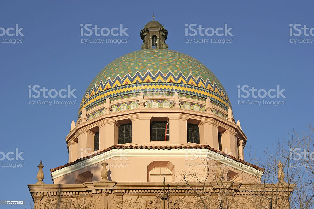 Tucson's Spanish Colonial Revival Courthouse royalty-free stock photo