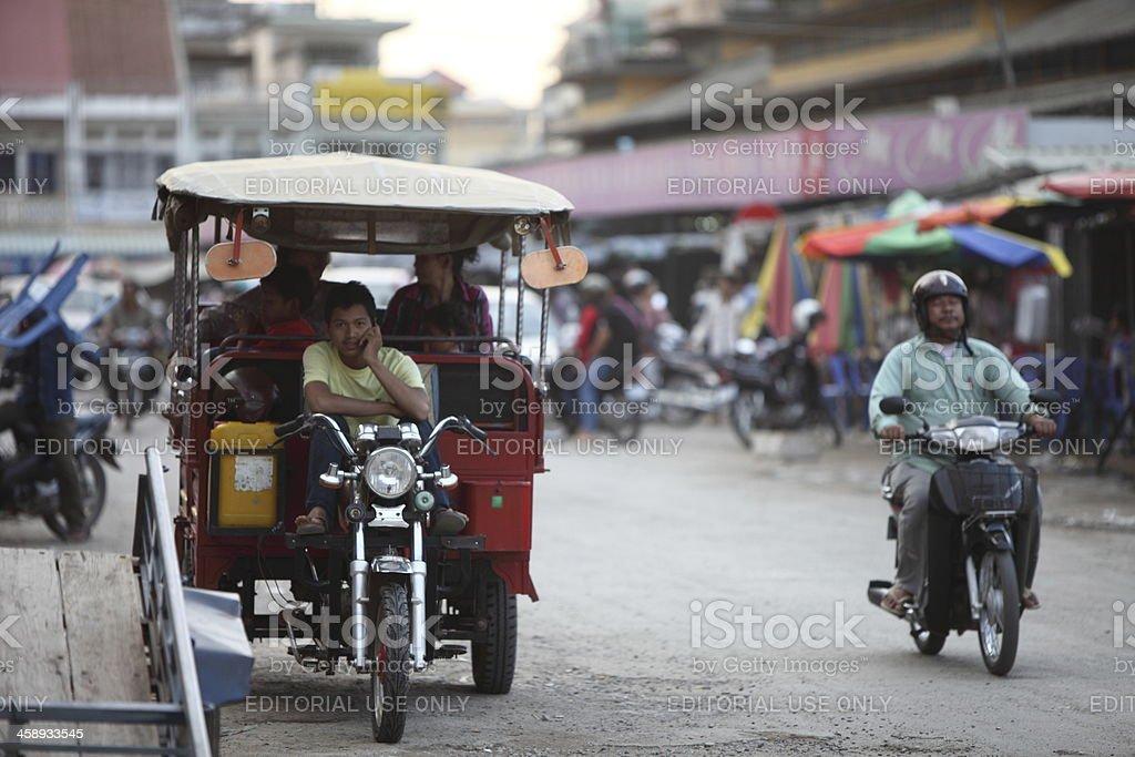 Tuc-Tuc in Battambang, Cambodia stock photo