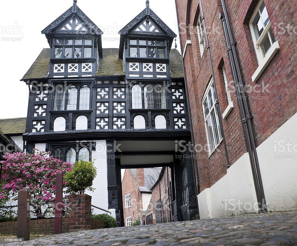 Tudor Architecture House in Shrewsbury, England royalty-free stock photo