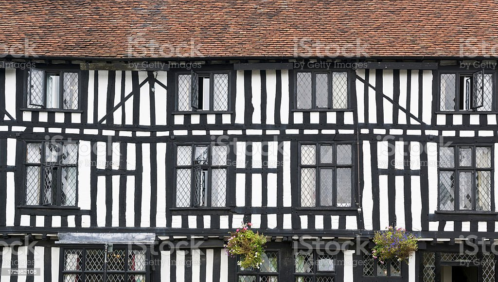 Tudor building royalty-free stock photo