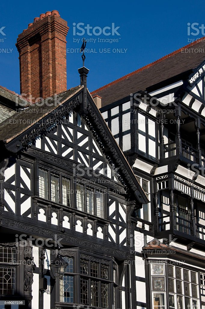 Tudor buildings - Chester - United Kingdom stock photo