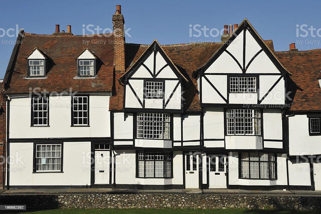 Tudor buildings in Canterbury, Kent, United Kingdom royalty-free stock photo