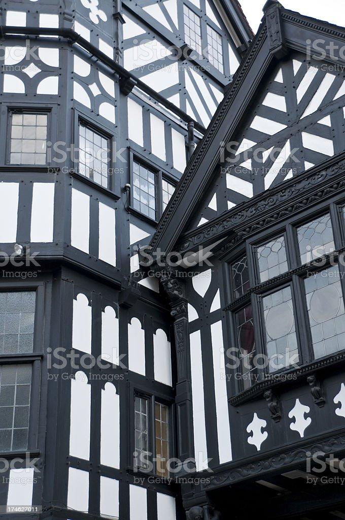 Tudor Buildings royalty-free stock photo