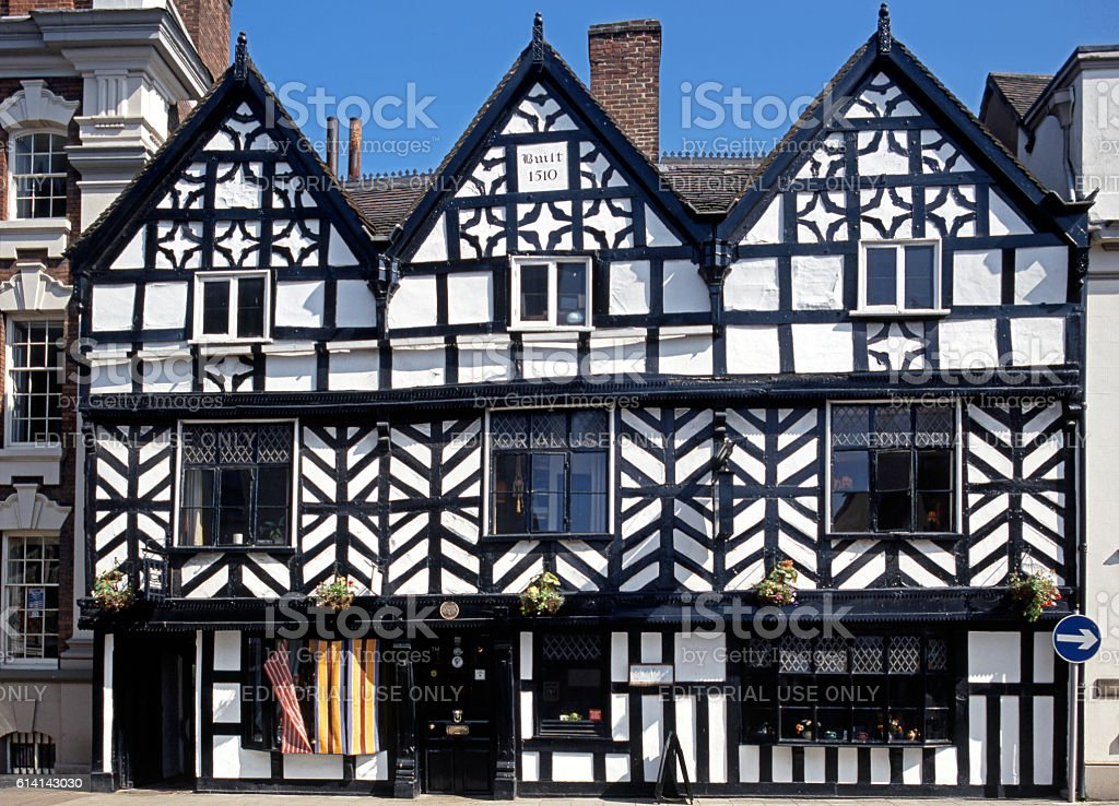 Tudor Cafe, Lichfield. stock photo