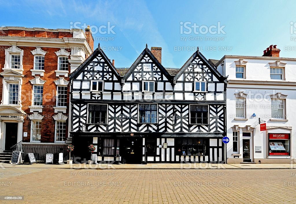 Tudor Cafe, Lichfield, UK. stock photo
