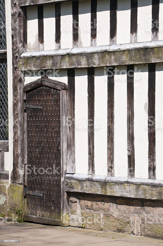 Tudor Doorway stock photo