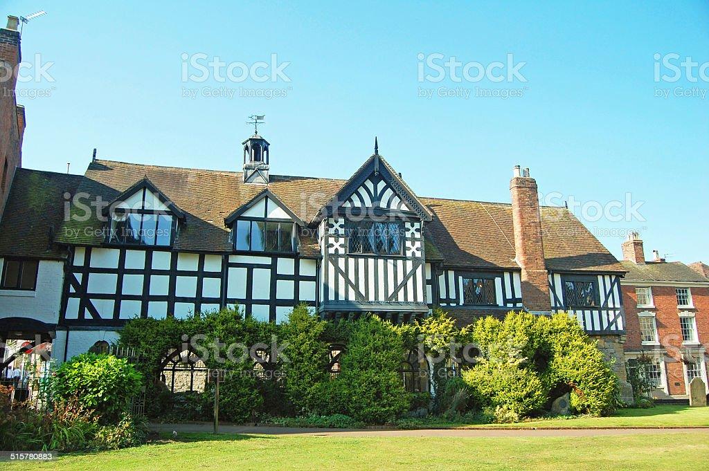 Tudor guildhall stock photo
