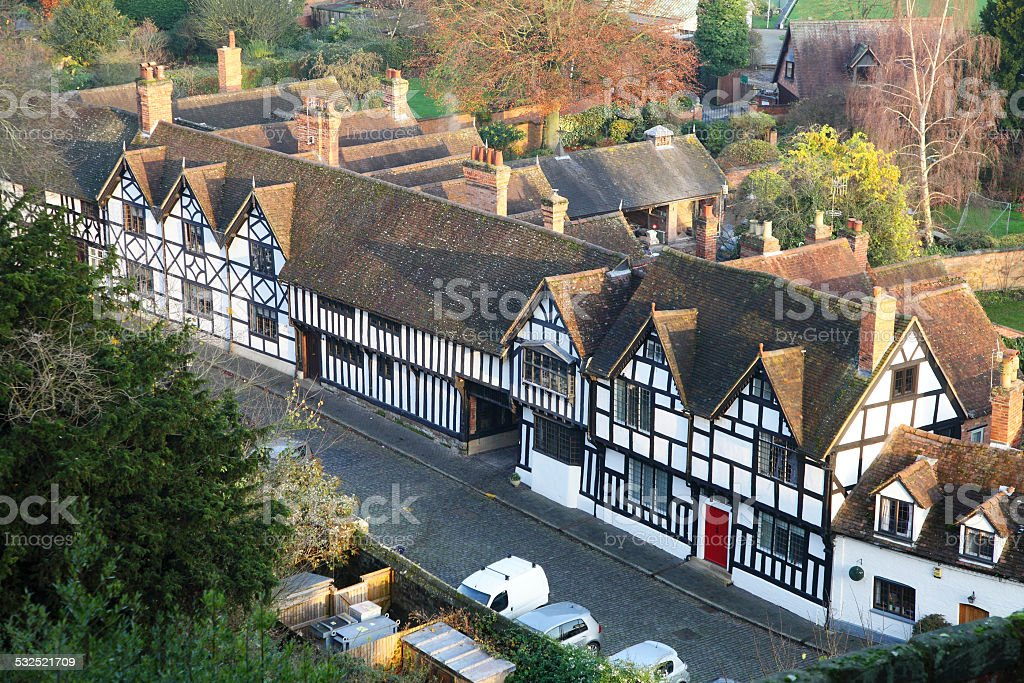Tudor Homes,Warwick stock photo