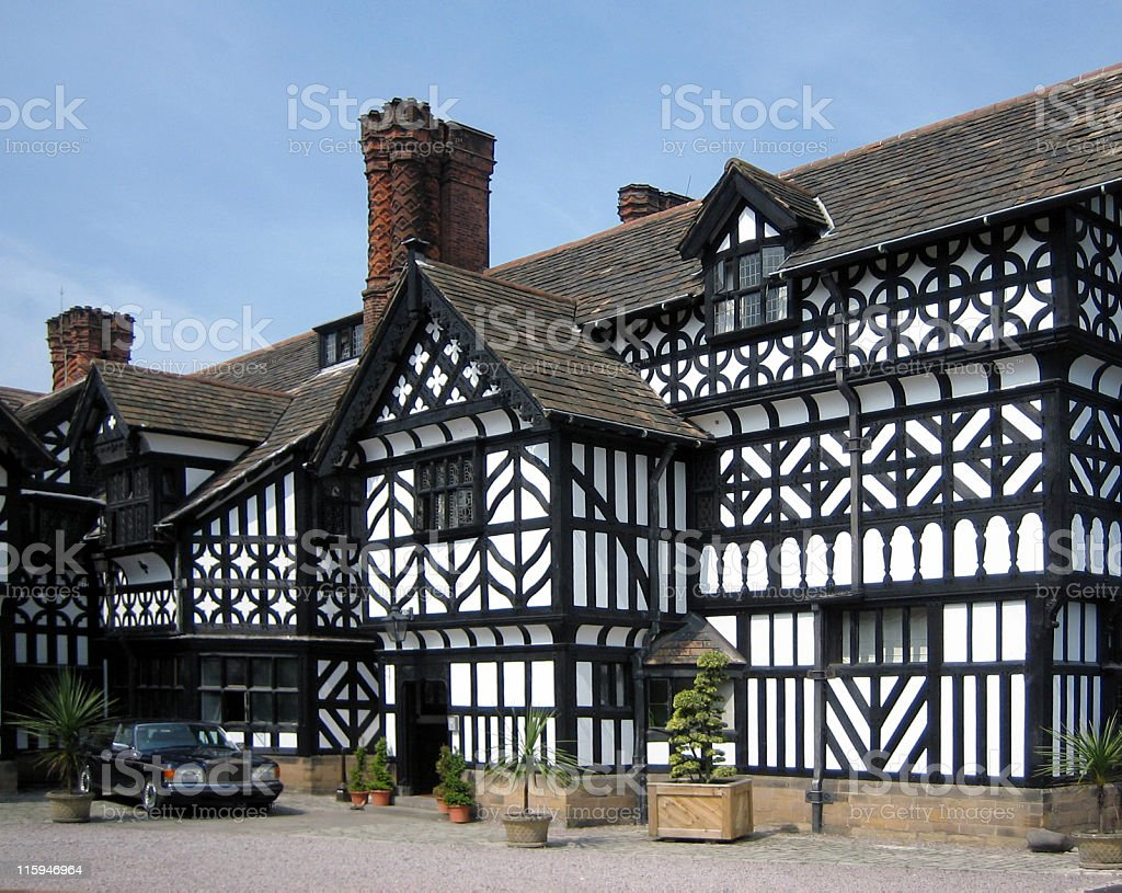 Tudor House stock photo