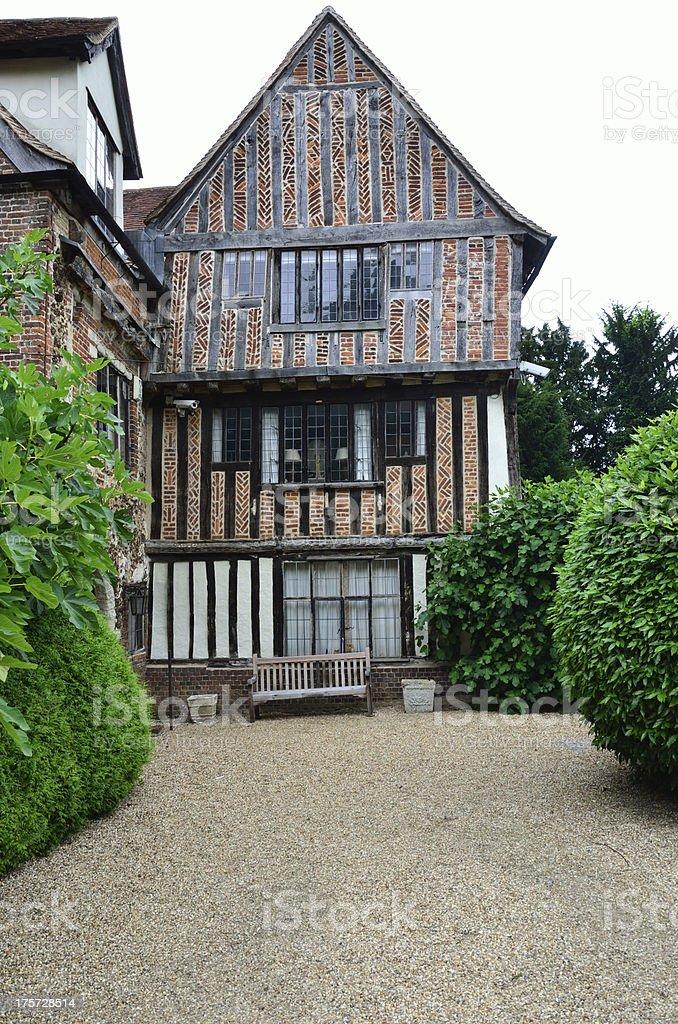 Tudor House with Drive Way royalty-free stock photo