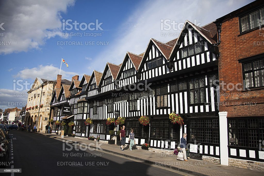 Tudor Houses in Stratford upon Avon royalty-free stock photo