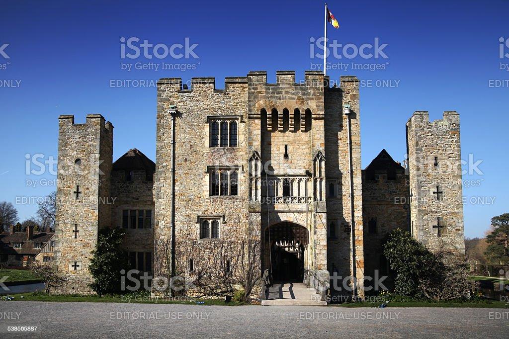 Tudor manor house 13th century, Main entrance stock photo