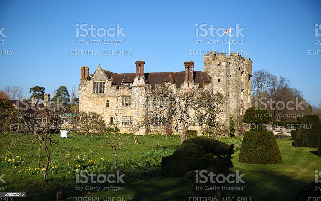 Tudor manor house 13th century, UK stock photo