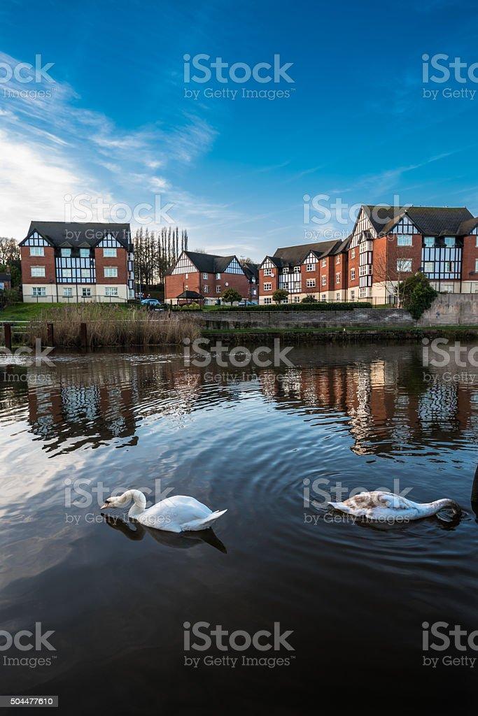 Tudor Riverside Appartments stock photo