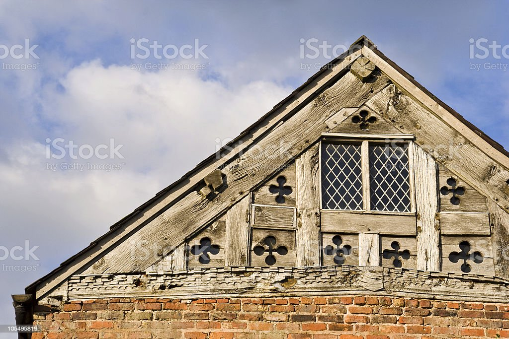 Tudor Roof Detail royalty-free stock photo