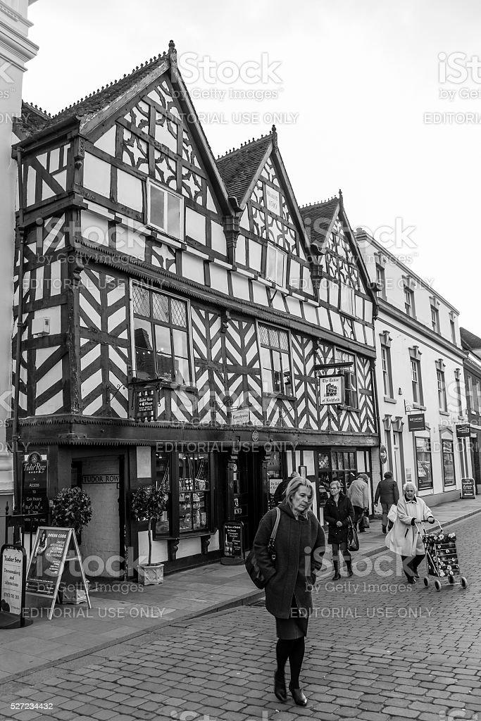 Tudor Row, Lichfield stock photo