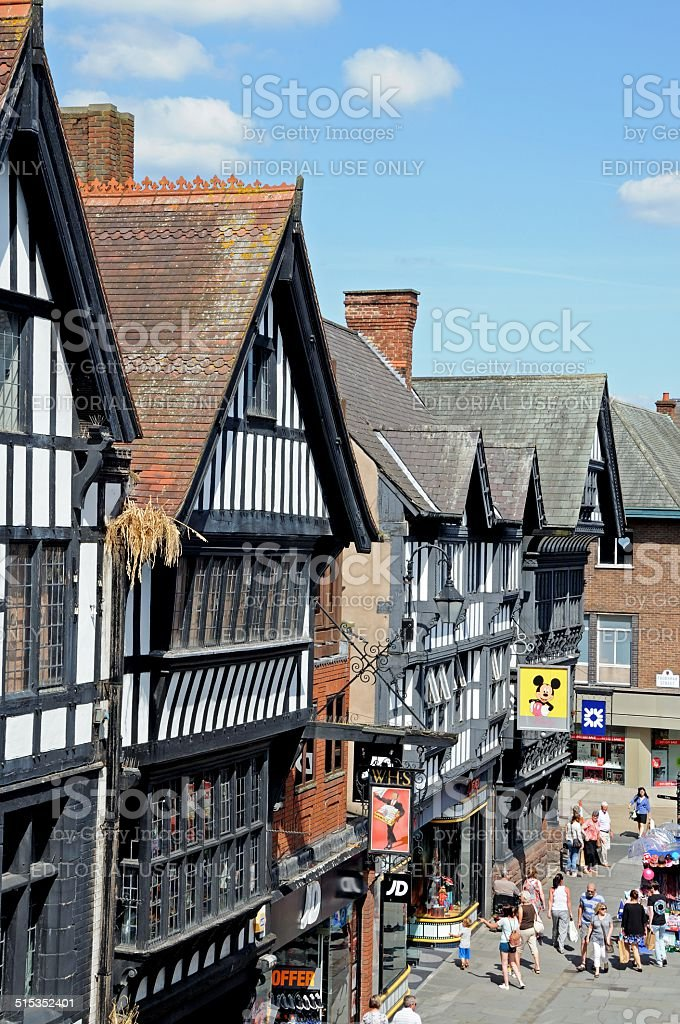 Tudor Shops, Chester. stock photo