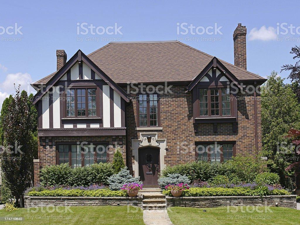 Tudor style brick house royalty-free stock photo