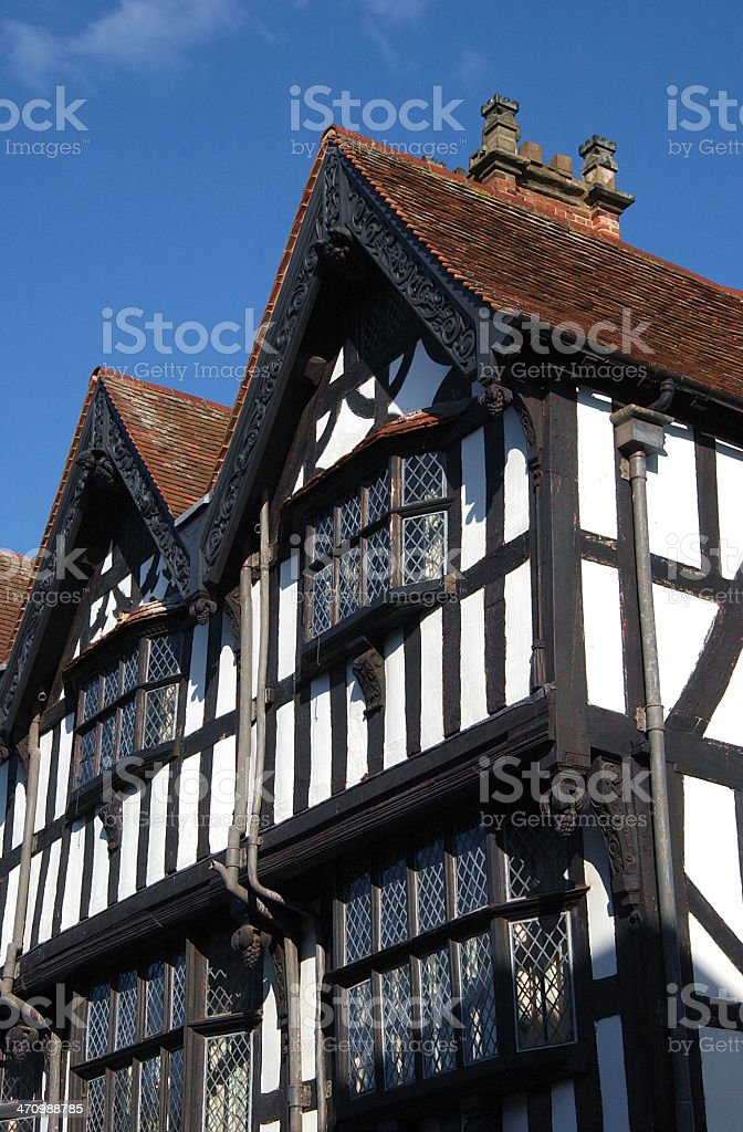 Tudor Style Building royalty-free stock photo