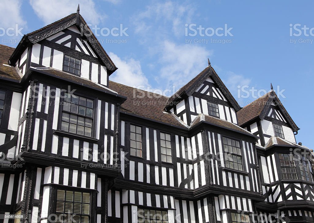 Tudor style homes in Hereford stock photo
