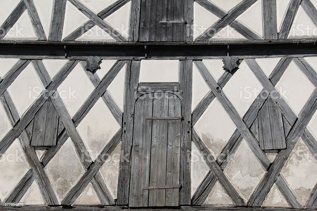 Tudor style house stock photo