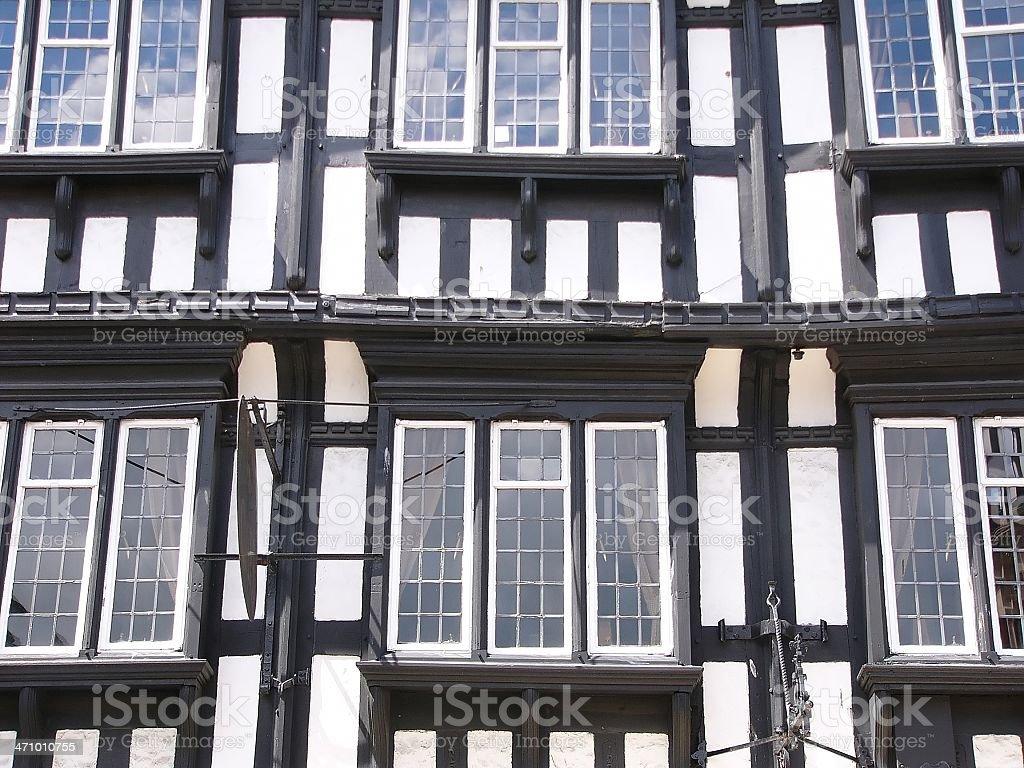 Tudor windows royalty-free stock photo