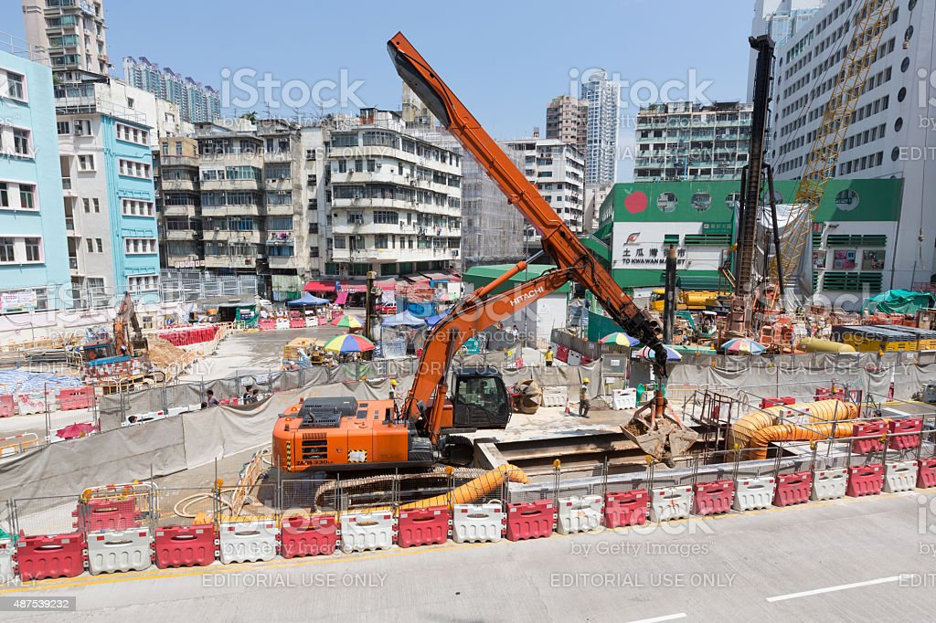 Shatin to Central Link Construction Site in Hong Kong stock photo
