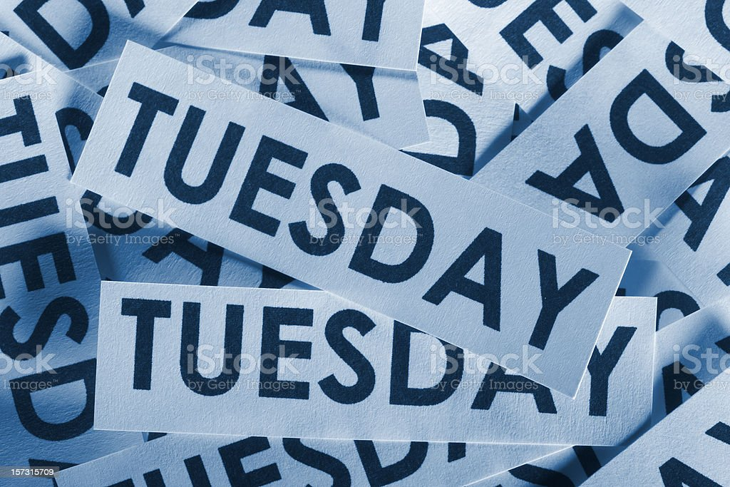 Tuesday royalty-free stock photo