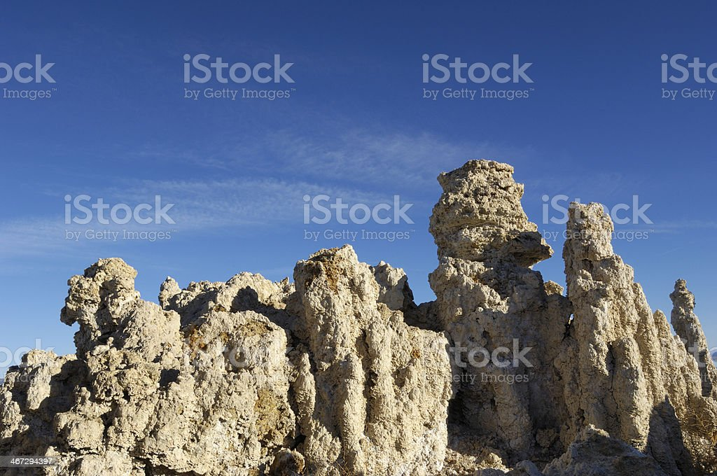Tufa Formations on Bank of Mono Lake royalty-free stock photo
