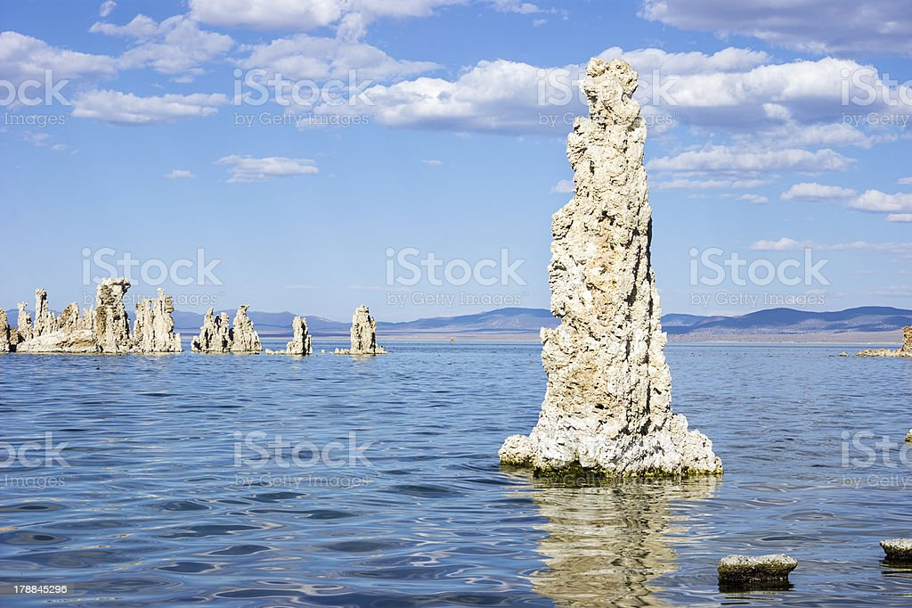 Tufa structures, Mono Lake, California stock photo