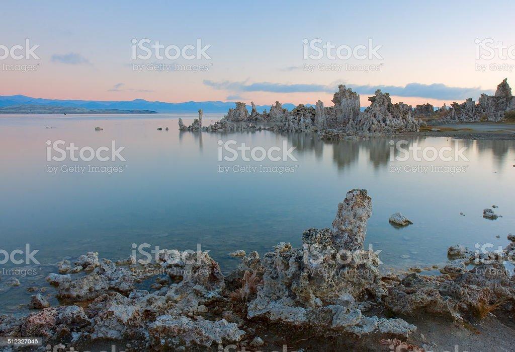 Tufa Sunrise royalty-free stock photo