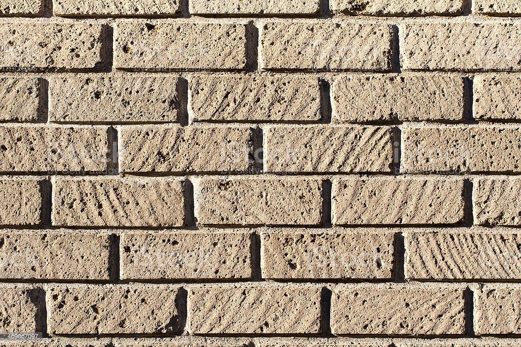 Tuff bricks wall stock photo