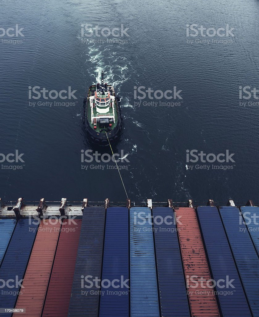 Tug Assistance stock photo