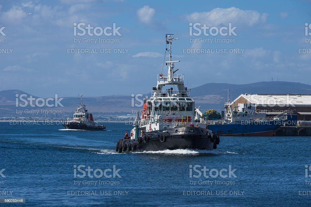 Tug Boat Cape Town stock photo