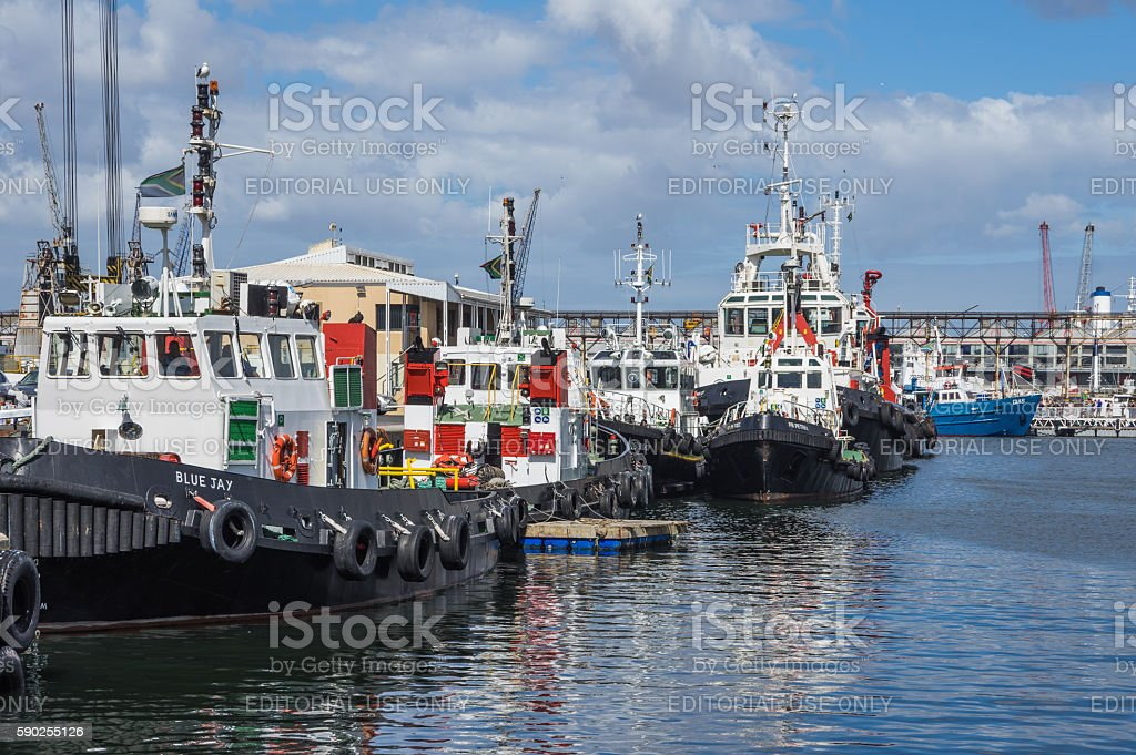 Tug Boat Cape Town stock photo