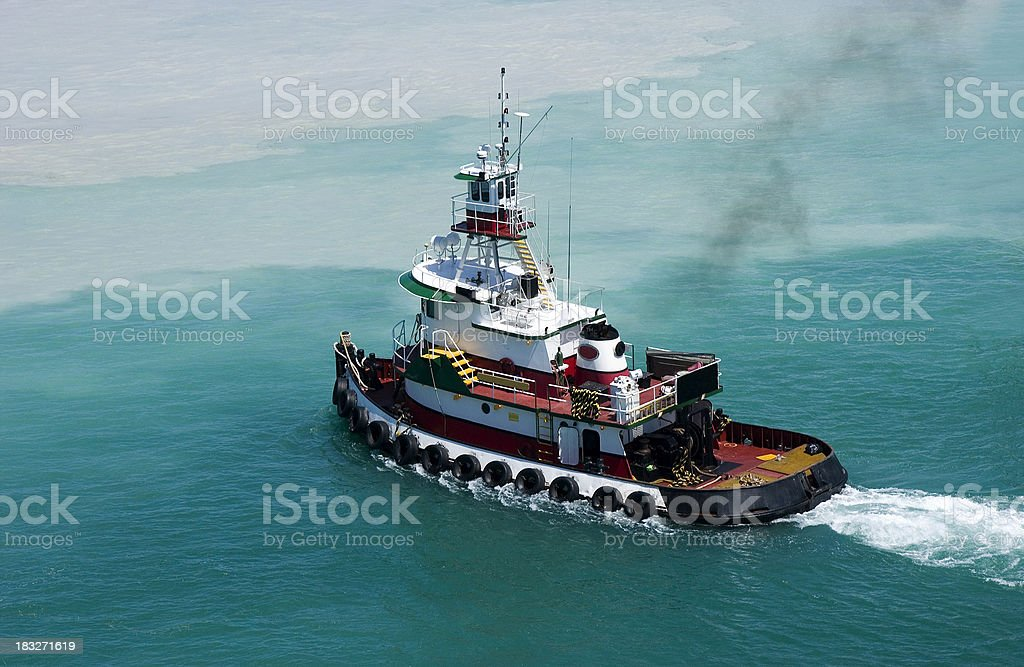 Tug Boat Coming stock photo