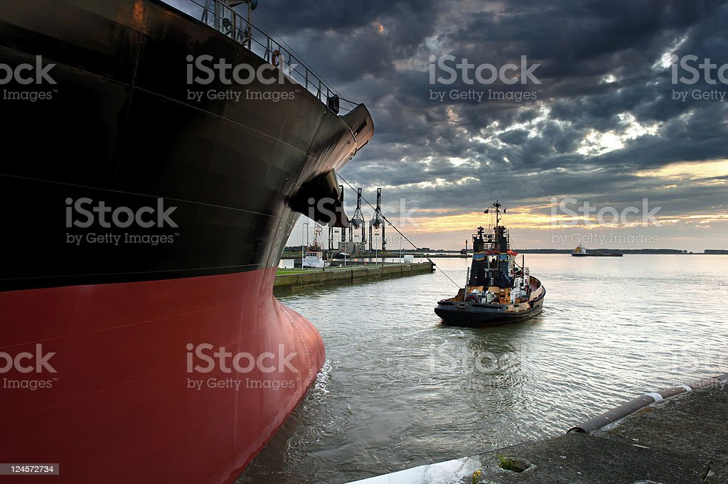 Tug boat stock photo