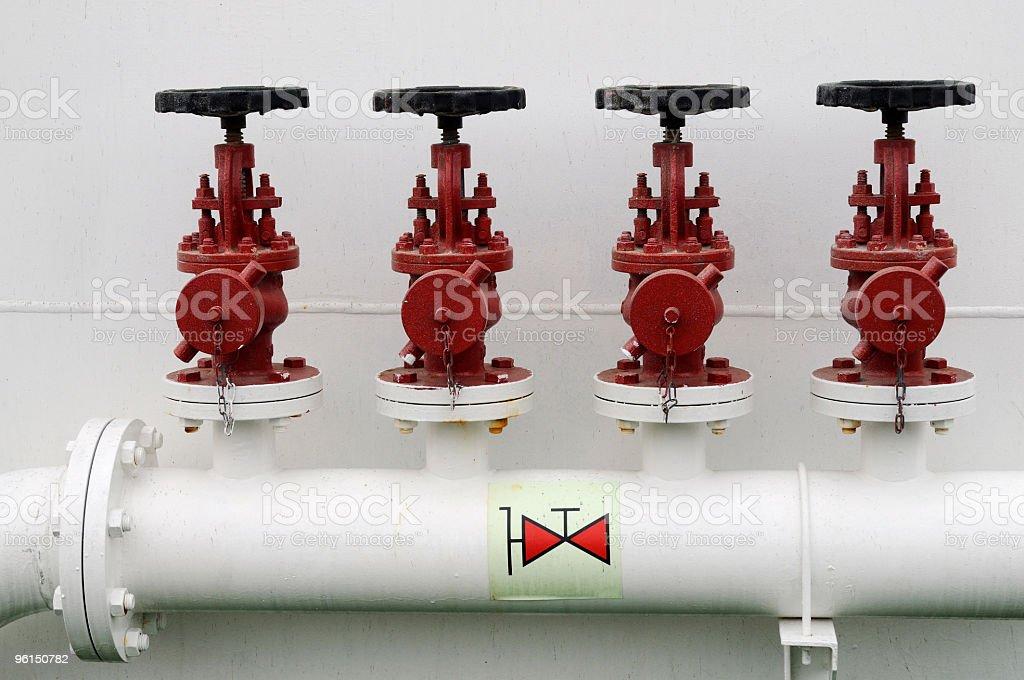 Tug boat valves royalty-free stock photo