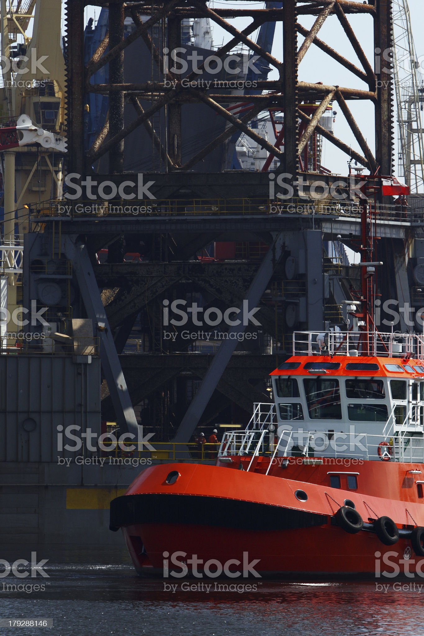 Tug Construction royalty-free stock photo