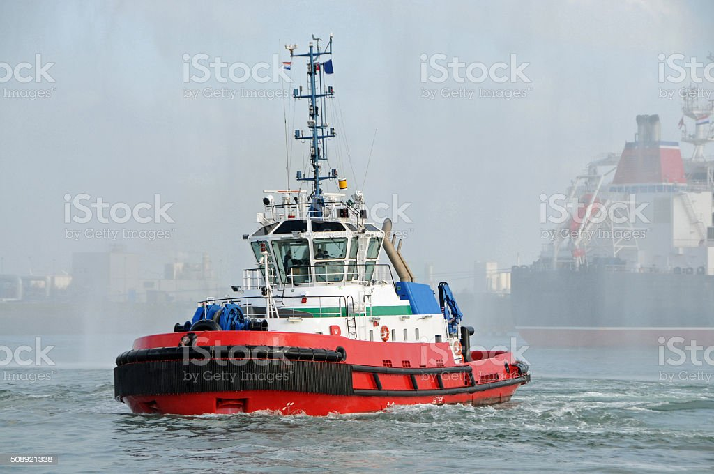 Tug in Rotterdam stock photo