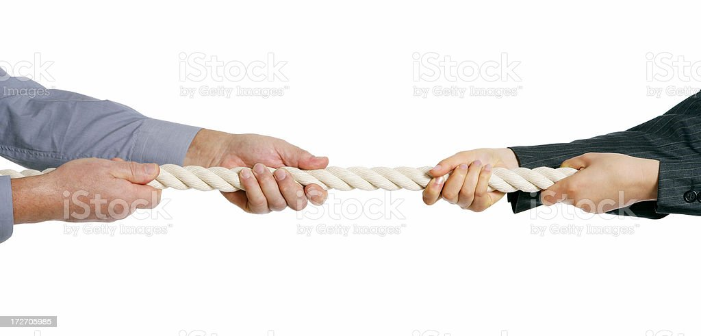Tug of War - Male vs Female royalty-free stock photo