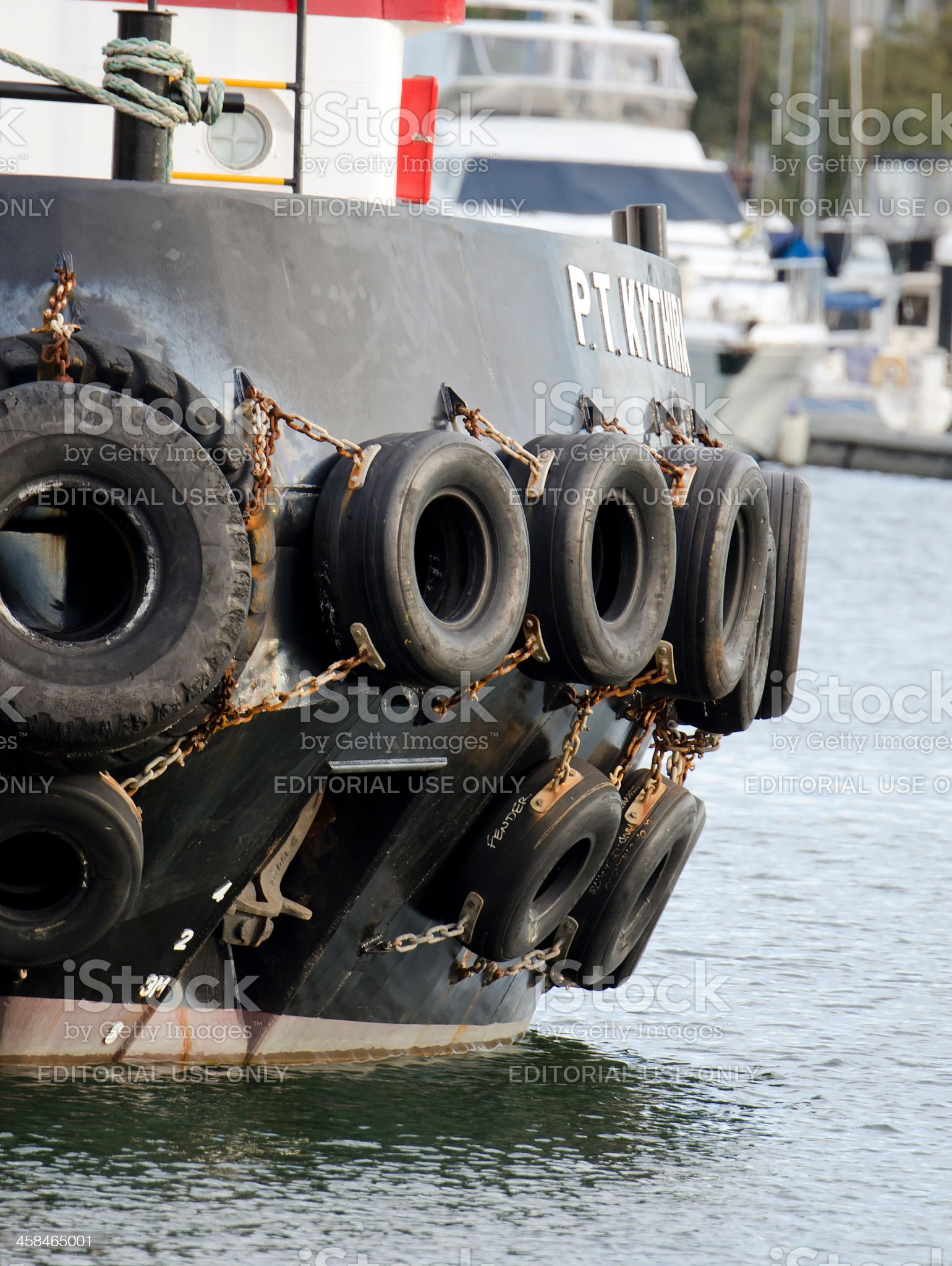 Tugboat bumper royalty-free stock photo