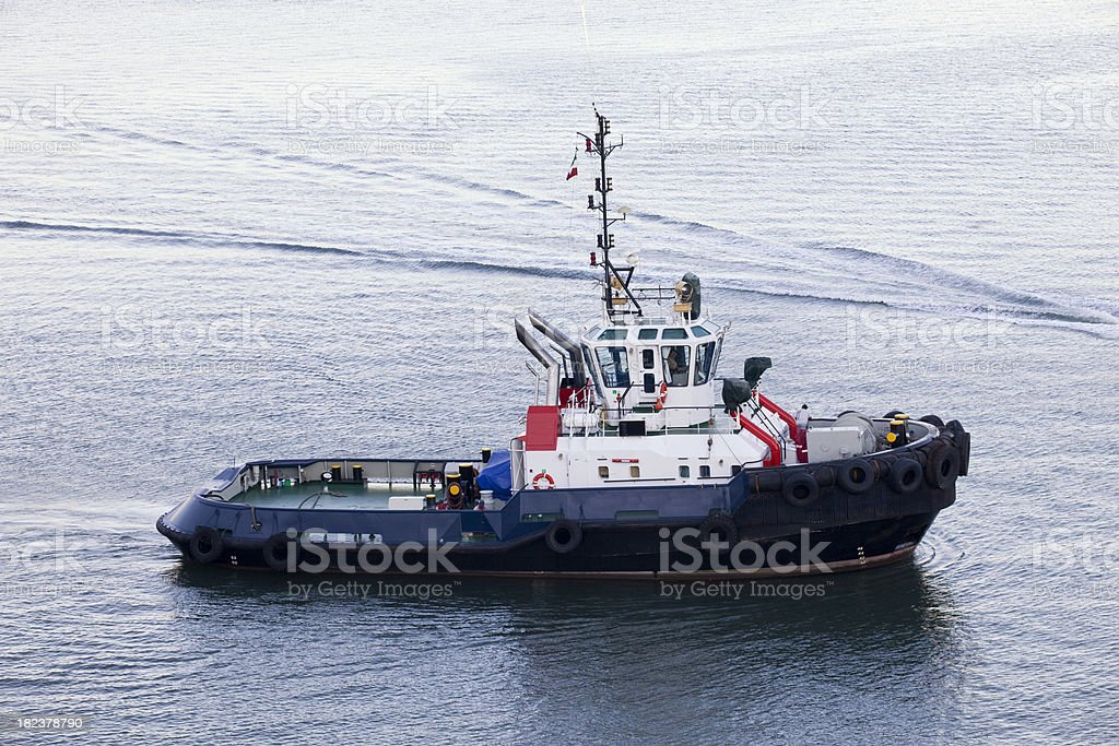 Tugboat in Mazatlan royalty-free stock photo